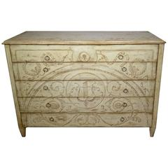 Five-Drawer Painted Commode