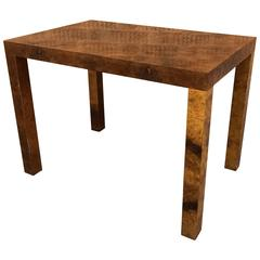 Burl Olive Wood Occasional Table by Milo Baughman for Directional