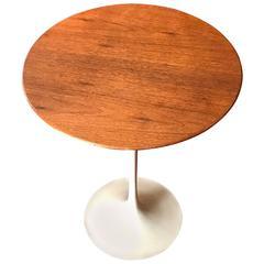Vintage Eero Saarinen for Knoll Walnut Top Tulip Side Table