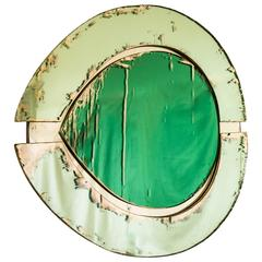 Irys Wall Mirror with Sage Green Mirror Inside and Actual Mirror Outside