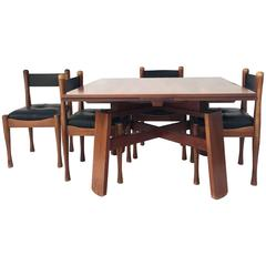 Silvio Coppola, Dining Table with Four Chairs, Bernini Edition, Signed, 1960