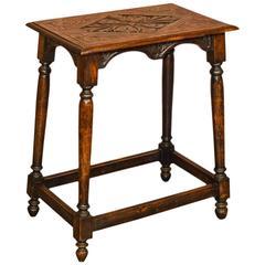 Antique Occasional Table, Late Victorian Oak, circa 1890