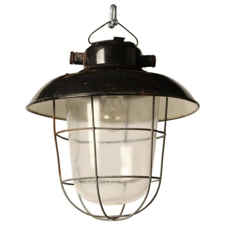 Industrial Czech Pendant Lamp For Sale At 1stdibs
