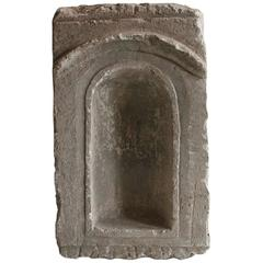 French 17th Century Carved Stone Altar Niche