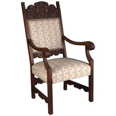 19th Century Original Neo Renaissance Armchair Dark Oak
