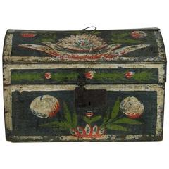 18th Century French Folk Art Weddingbox from Normandy