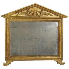 Small Italian Late 18th Century Carved Giltwood Neoclassical Mirror