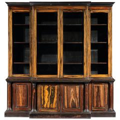 Rare William IV Anglo Indian Breakfront Bookcase