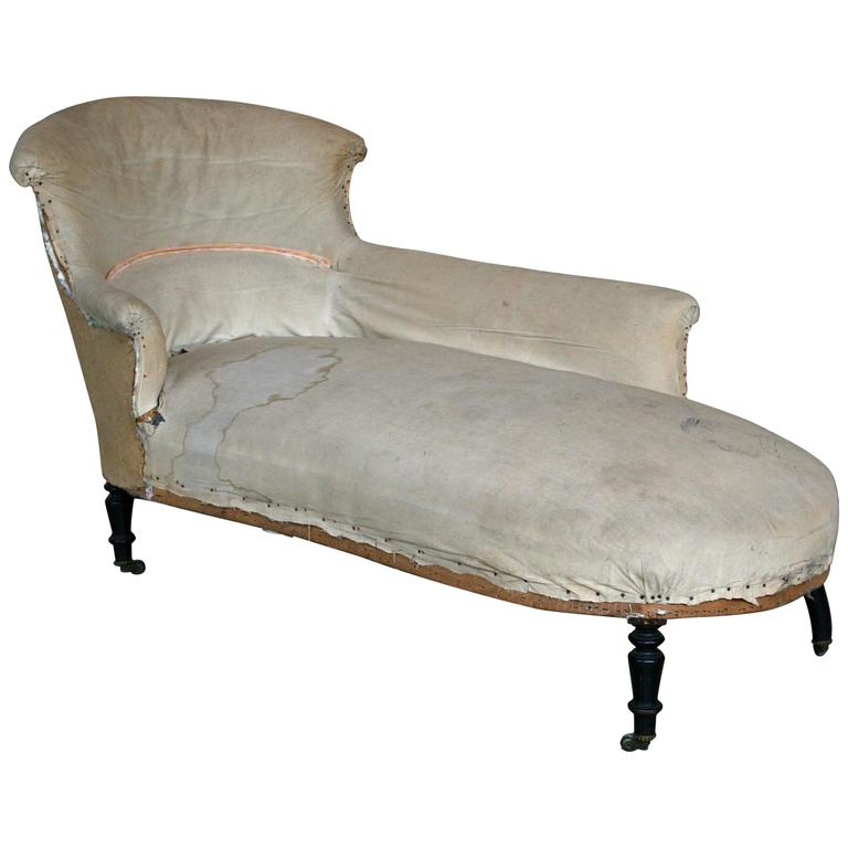 French napoleon iii scrolled back chaise longue for sale Chaise longue double a bascule