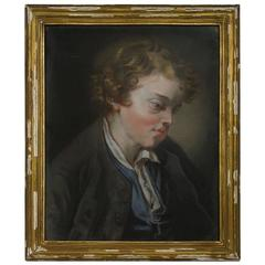 18th Century, French Pastel Portrait of a Boy