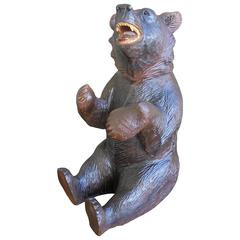 Antique Carved Black Forest Bear