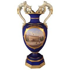 19th Century Huge KPM Berlin Vase Rare