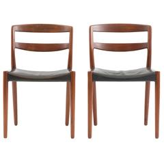 Chairs by Ejner Larsen & Aksel Bender Madsen for Willy Beck