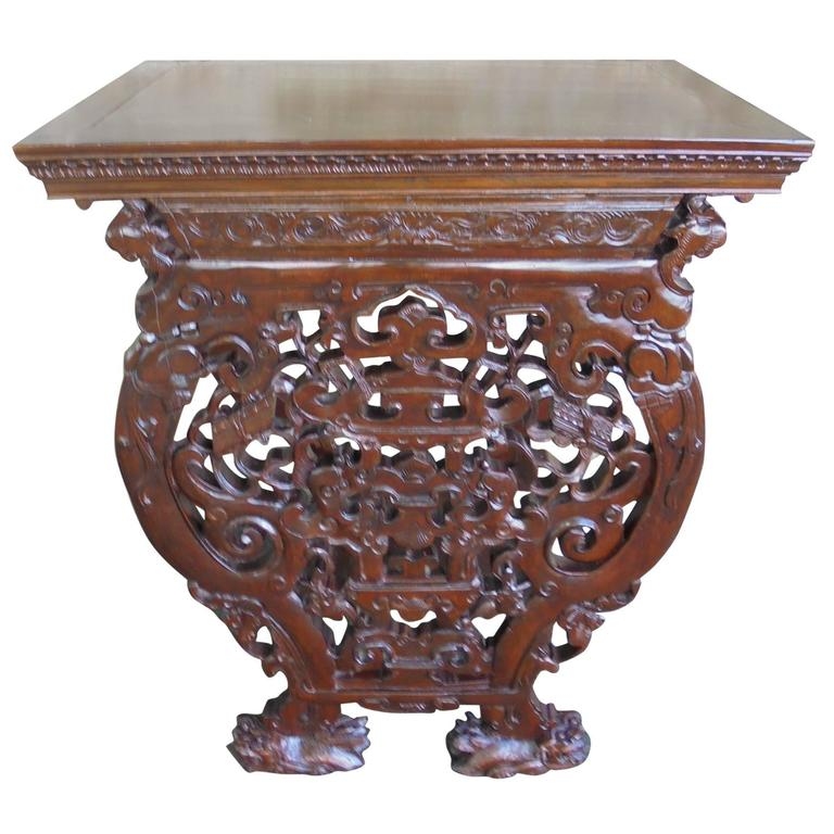 Antique oriental chinese console table for sale at 1stdibs for Antique chinese tables for sale
