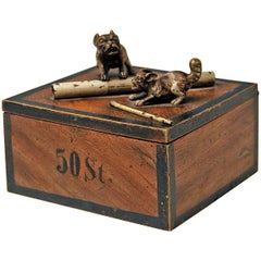 Vienna Bronze Tobacco Box with Dogs Pugs by Franz Bergman'n', circa 1890-1900
