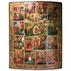 Icon Russian Calendarium 1800-1850 Sacred Calendar Highest Quality !!