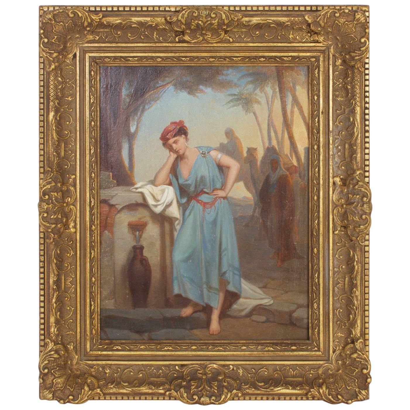 Illuminating 19th Century Oil on Board Orientalist Painting