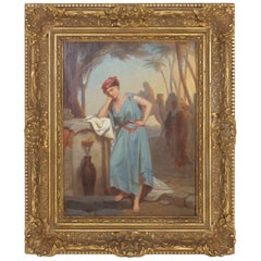 Illuminating 19th Century Oil on Board Orientalist Painting