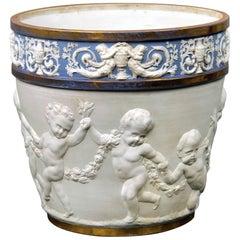 Late 19th Century Sèvres Style Biscuit Porcelain Jardinière