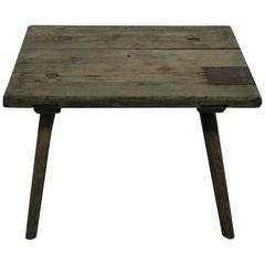 Small French Early 19th Century Rustic Oak Table
