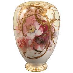 19th Century KPM Berlin Vase Weichmalerei Soft Paste Painting