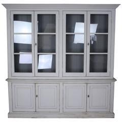 Stately Glazed English Bookcase