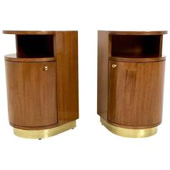Pair of Beautiful Bedside Tables in Art Deco Style, Italy, 1960s