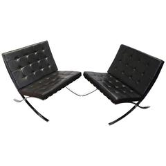 Pair of Barcelona Chairs by Knoll