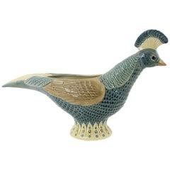 1970s Lladró Porcelain Pheasant Figurine or Planter by Vicente Martinez