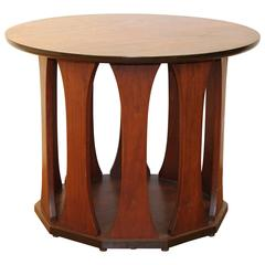 Harvey Probber Side Table with Decagonal Base