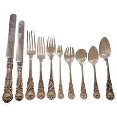 Saint James by Tiffany Co Sterling Silver Flatware Set Service 115 Pcs Dinner