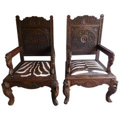 19th Century Anglo-Indonesian Armchairs