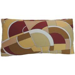 MOD Style Bright Colorful Pop-Art Geometric Vintage Decorative Lumbar Pillow