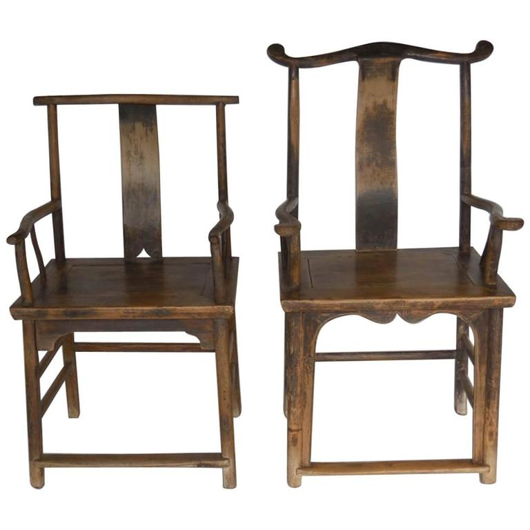 18th Century Qing Dynasty Chinese Woman And Man S Chairs For