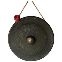 Very Large Bronze Gong with Striker