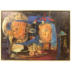 Antonio Dias, Abstract Expressionist Oil on Board