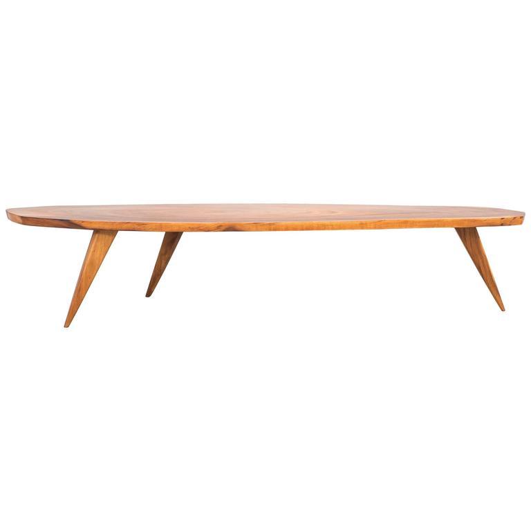 Mid Century Modern Tree Slab Coffee Table For Sale At 1stdibs: Mid-Century Modern Live Edge Coffee Table At 1stdibs