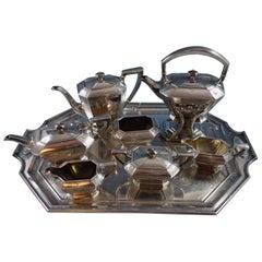 Colfax by Durgin Gorham Sterling Silver Tea Set 8-Piece Marked #C04 (#1501)