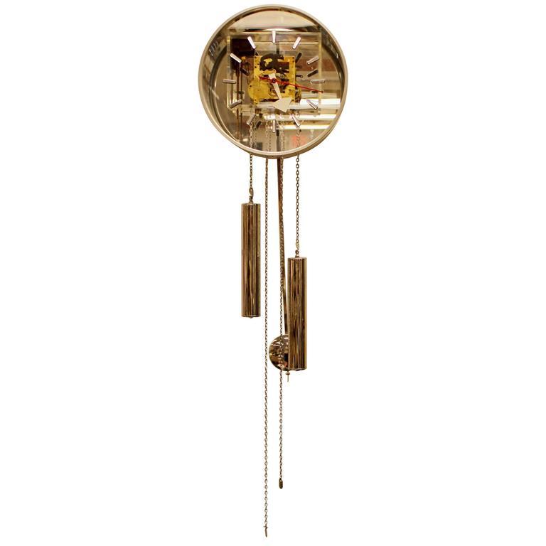 Mid Century Modern Pendulum Clock By George Nelson For Howard Miller Chrome