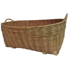American Country Oval Large Wicker Woven Basket