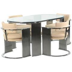 Rare Milo Baughman for Thayer Coggin Chrome and Glass Dining Table