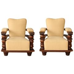Two Vintage Chairs from Biarritz
