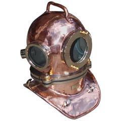 Russian Maritime Copper and Brass Deep Sea Divers Helmet, Circa 1992