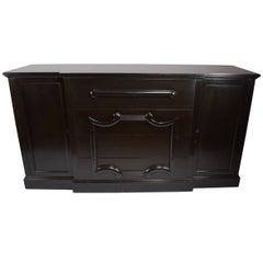 Black Ebonized Fall Front Desk Credenza Server Design after Parzinger