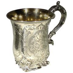 A Very Fine 19th Century Sterling Silver Mug, Hallmarked London 1854