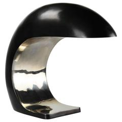 Nautilus Study Table Lamp in White Bronze