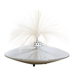 Vintage UFO Fibre Optic Light Table Lamp Rotated Fantasia Rainbow Fountain