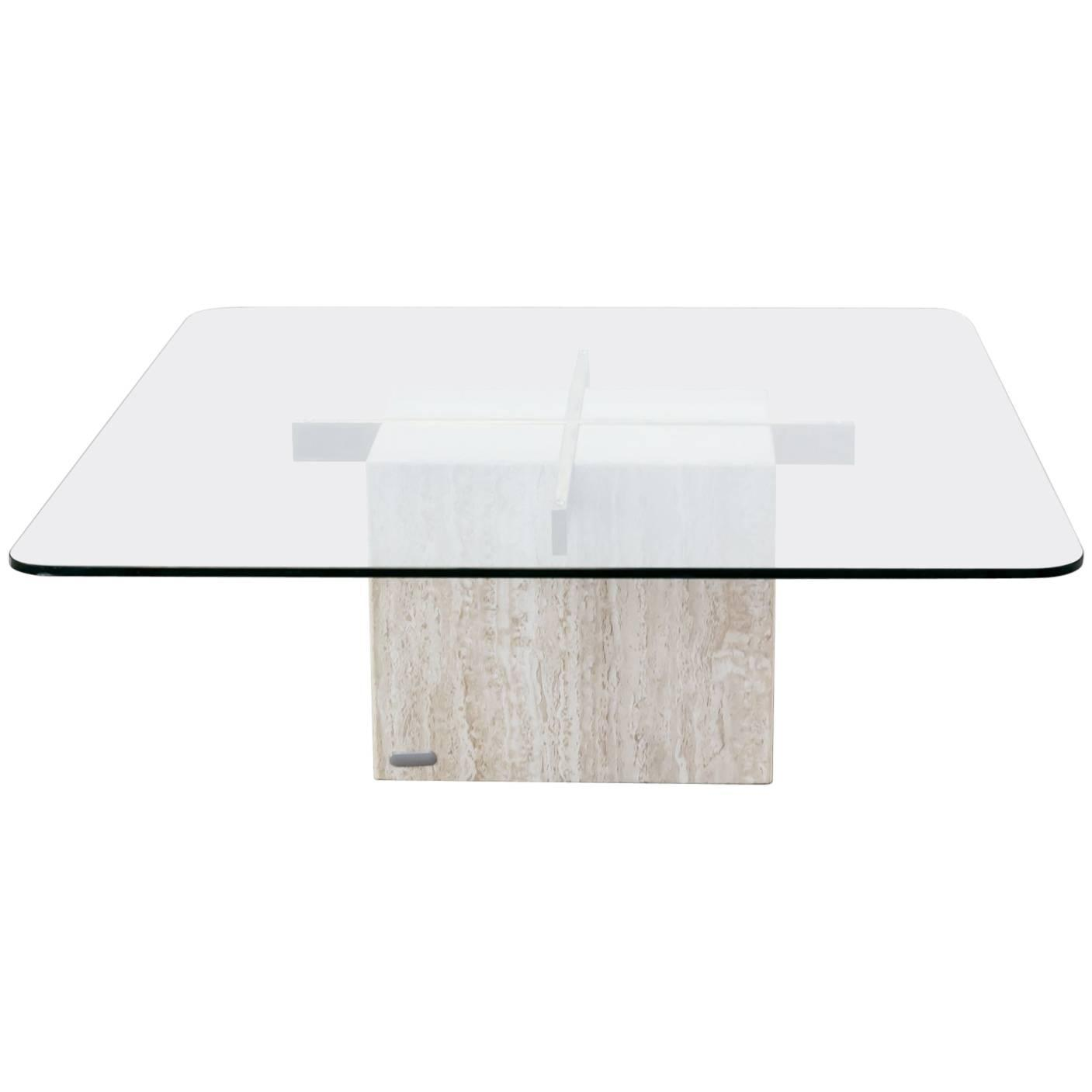 Marble Base Glass Top Coffee Table Rascalartsnyc