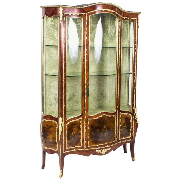 19th Century French Large Vernis Martin Display Cabinet