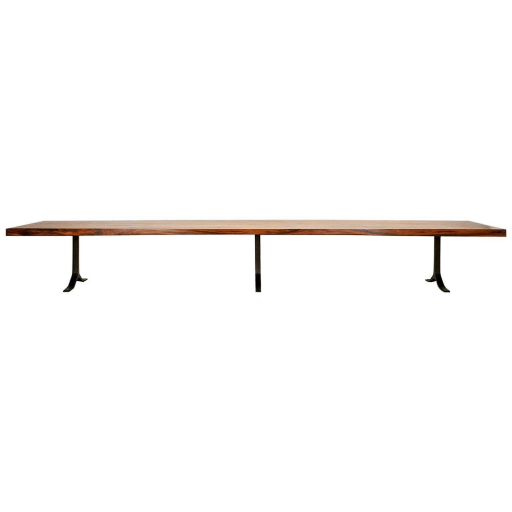 16-seat Dining Table, Reclaimed Hardwood, by P.Tendercool